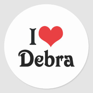 Amo a Debra Pegatina Redonda