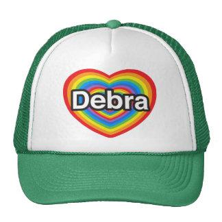 Amo a Debra. Te amo Debra. Corazón Gorro De Camionero