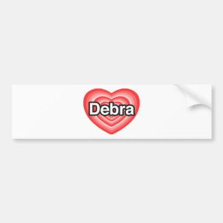 Amo a Debra. Te amo Debra. Corazón Pegatina Para Auto