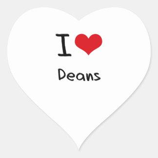 Amo a decanos colcomanias de corazon
