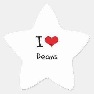 Amo a decanos pegatinas forma de estrellaes