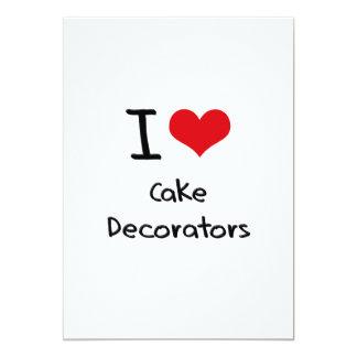 """Amo a decoradores de la torta invitación 5"""" x 7"""""""