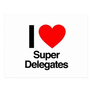 amo a delegados estupendos postales