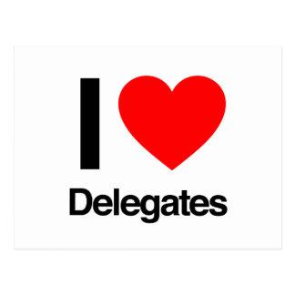 amo a delegados tarjeta postal