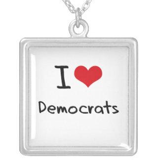 Amo a Demócratas Colgante