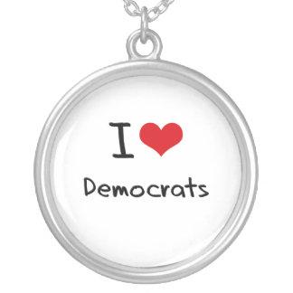 Amo a Demócratas Pendientes Personalizados