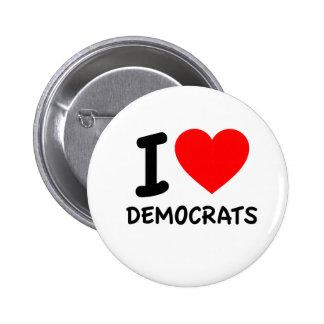 Amo a Demócratas Pin Redondo 5 Cm