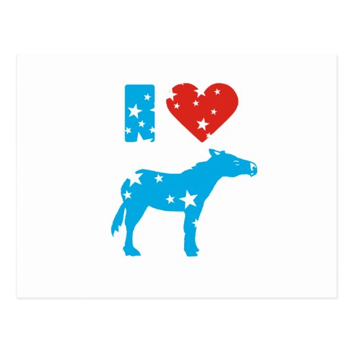 Amo a Demócratas Tarjeta Postal