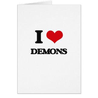 Amo a demonios tarjeton
