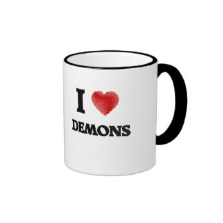 Amo a demonios taza de dos colores