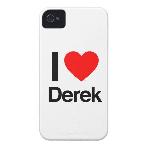 amo a Derek Case-Mate iPhone 4 Cárcasas