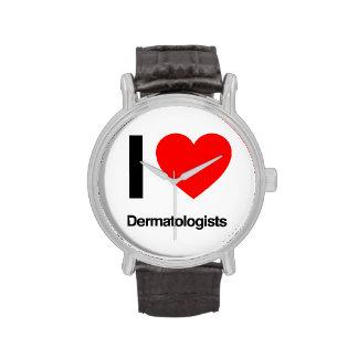 amo a dermatólogos relojes de mano