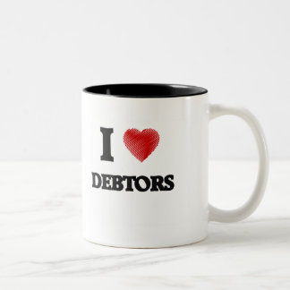 Amo a deudores taza de dos tonos