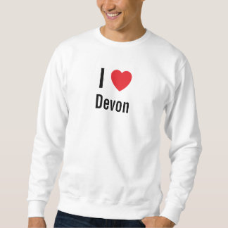 Amo a Devon Sudadera