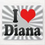 Amo a Diana Alfombrillas De Ratón