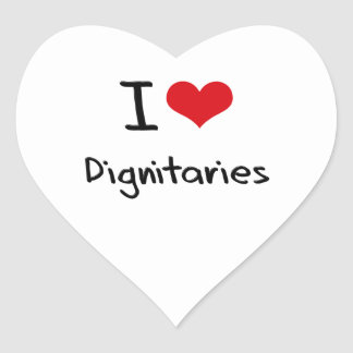 Amo a dignatarios calcomanías corazones