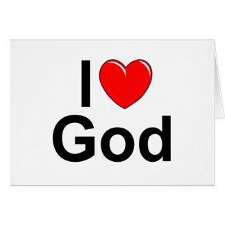 Amo a dios (del corazón) tarjeton