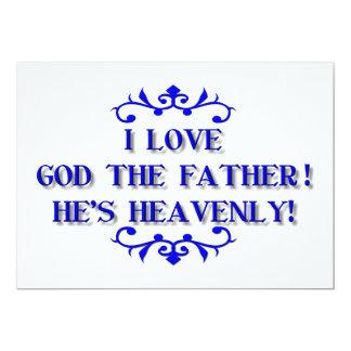 ¡Amo a dios el padre! ¡Él es divino! Invitación 12,7 X 17,8 Cm