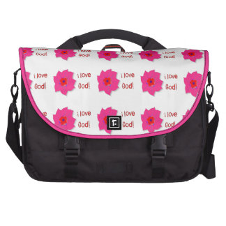 Amo a dios (las flores) bolsas para ordenador