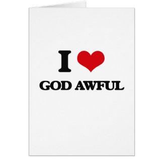 Amo a dios tremendo tarjeta
