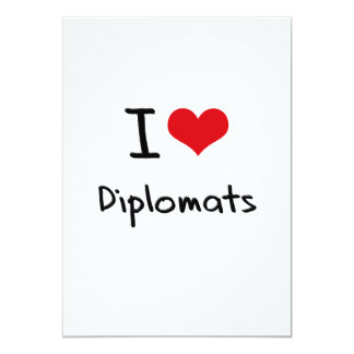 Amo a diplomáticos anuncio personalizado