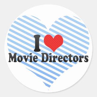 Amo a directores de película pegatina redonda