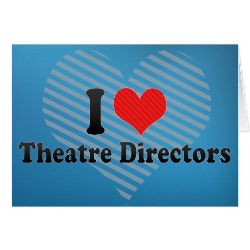 Amo a directores del teatro felicitación