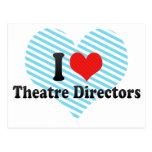 Amo a directores del teatro tarjeta postal
