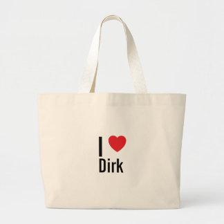 Amo a Dirk Bolsa Tela Grande