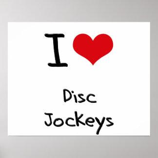 Amo a discs jockeyes poster