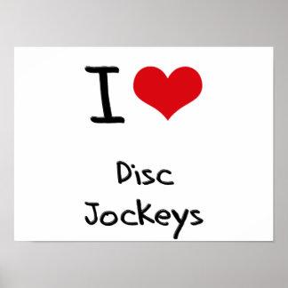 Amo a discs jockeyes impresiones