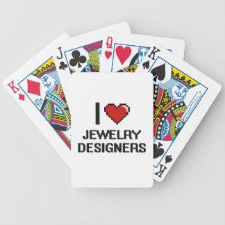 Amo a diseñadores de la joyería baraja de cartas