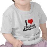 Amo a diseñadores de la ropa camiseta