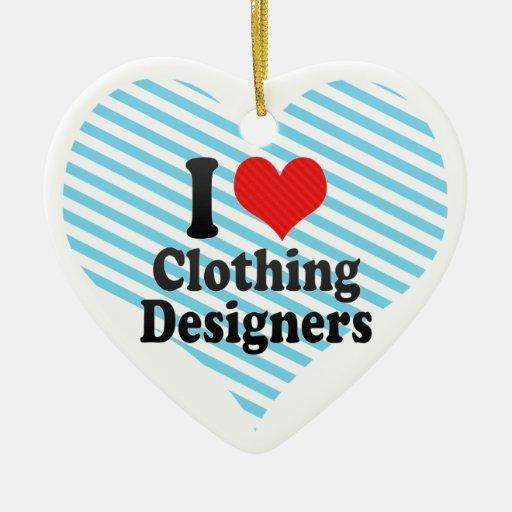 Amo a diseñadores de la ropa adorno de cerámica en forma de corazón