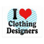 Amo a diseñadores de la ropa postal