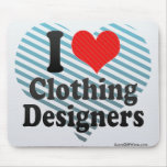 Amo a diseñadores de la ropa tapete de ratón