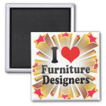 Amo a diseñadores de los muebles iman de frigorífico