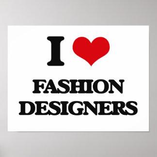 Amo a diseñadores de moda posters