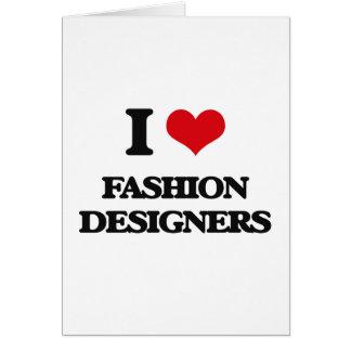 Amo a diseñadores de moda felicitaciones