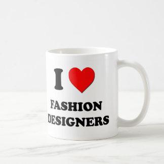 Amo a diseñadores de moda tazas de café