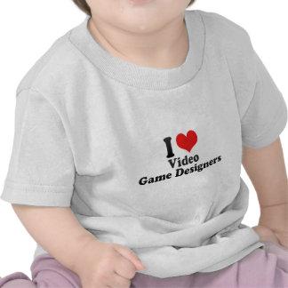 Amo a diseñadores del videojuego camisetas