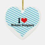 Amo a diseñadores del Web site Ornamento Para Arbol De Navidad
