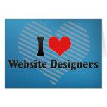 Amo a diseñadores del Web site Felicitacion