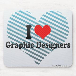 Amo a diseñadores gráficos alfombrilla de ratones