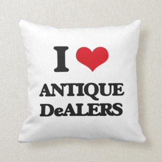 Amo a distribuidores autorizados antiguos almohada