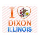 Amo a Dixon, IL Tarjeta Postal