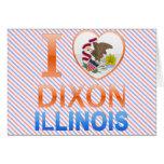 Amo a Dixon, IL Tarjetas