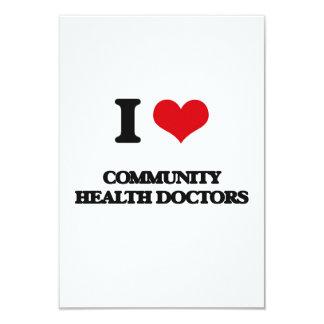 Amo a doctores de la salud de la comunidad invitación 8,9 x 12,7 cm