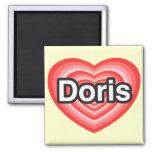 Amo a Doris. Te amo Doris. Corazón Iman