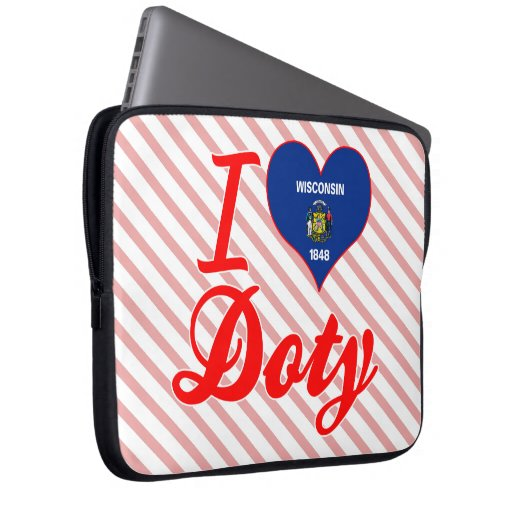 Amo a Doty, Wisconsin Funda Portátil